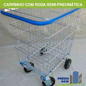 Carrinho Condomínio Duplo com Roda Semi-Pneumática